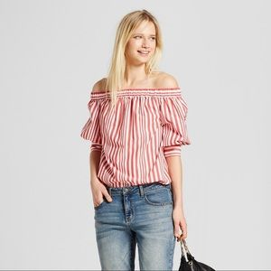 Who What Wear Off the Shoulder Top
